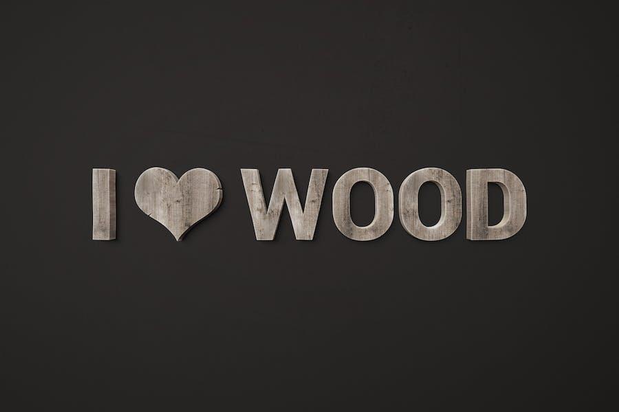 I ♥ Wood — Стили смарт-объектов для Photoshop