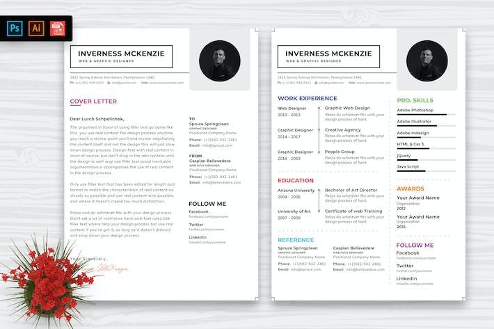 Thumbnail for Resume CV Template-51
