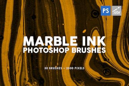 30 Pinceles Tinta mármol Photoshop Vol. 2