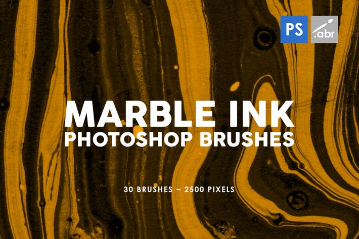 Thumbnail for 30 Marble Ink Photoshop Brushes Vol. 2