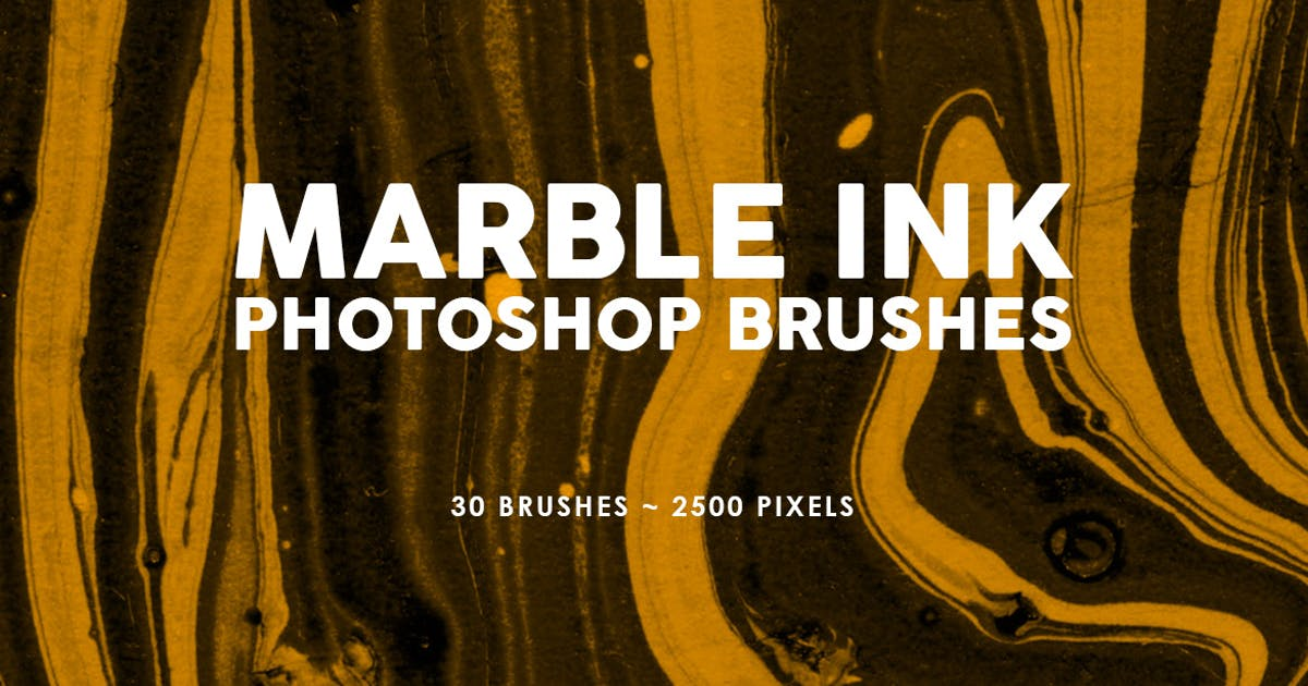 Download 30 Marble Ink Photoshop Brushes Vol. 2 by M-e-f