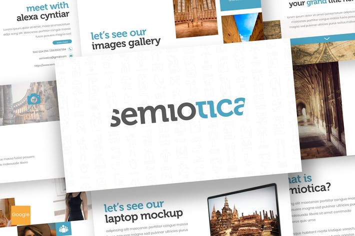 Thumbnail for Semiotica - Google Slides Template