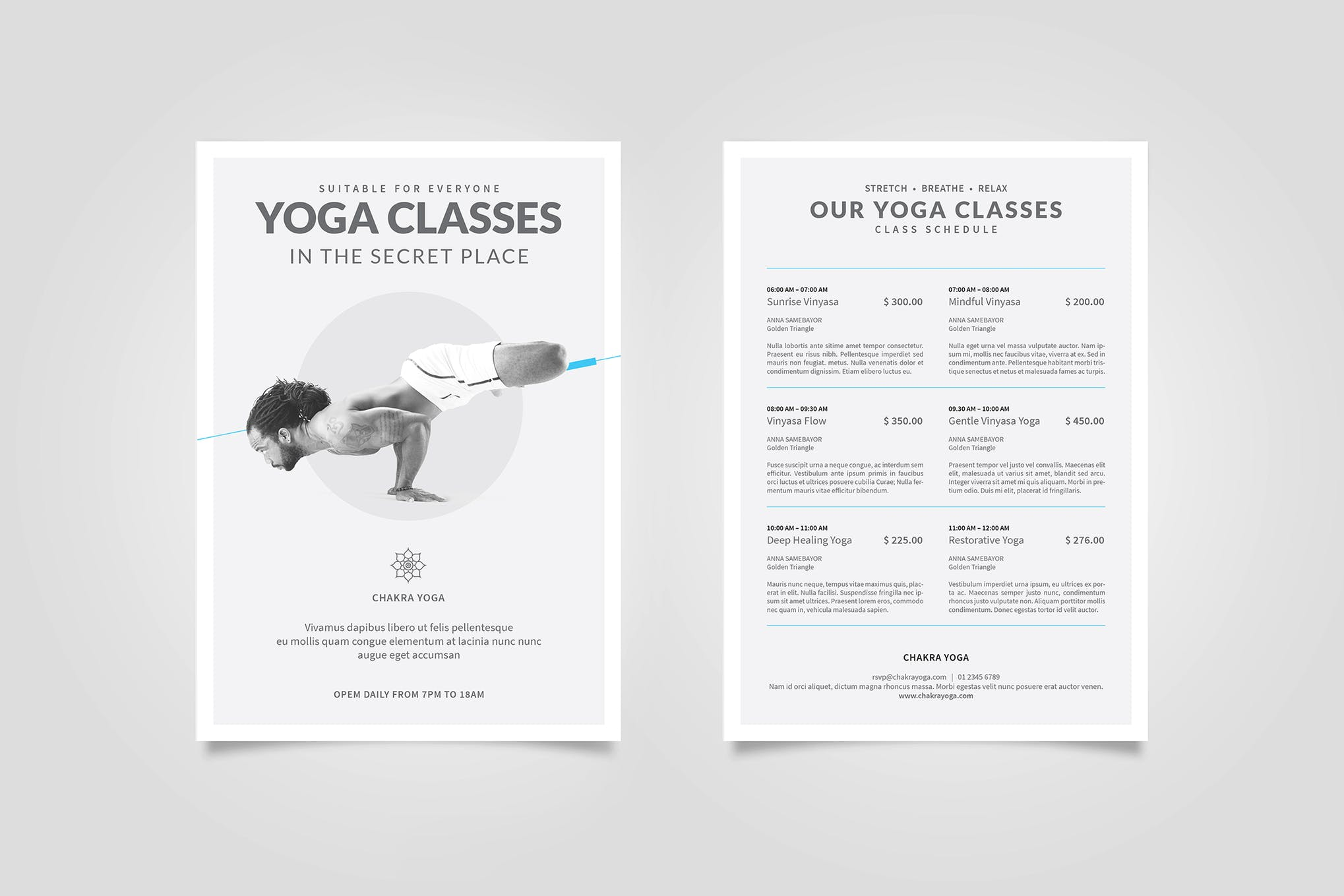 Yoga Classes Flyer By Boxkayu On Envato Elements