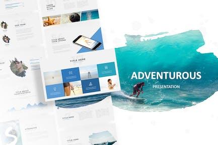 Adventurous - Шаблон Powerpoint кисти