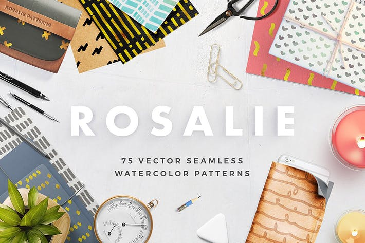 Thumbnail for Rosalie Seamless Watercolor Patterns