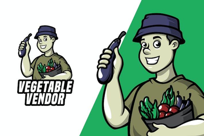 Thumbnail for Vegetable Vendor - Mascot Logo Template
