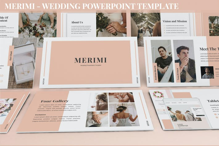 Thumbnail for Merimi - Wedding Powerpoint Template