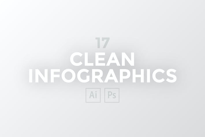 Thumbnail for 17 Clean Infographics