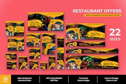 Restaurant Offer Web Ad Banner