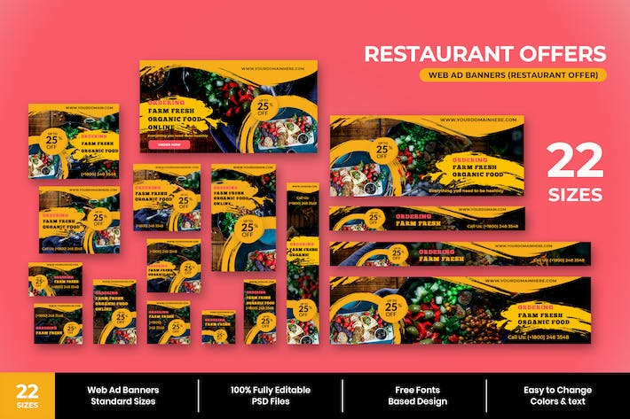 Thumbnail for Restaurant Angebot Web Ad Banner