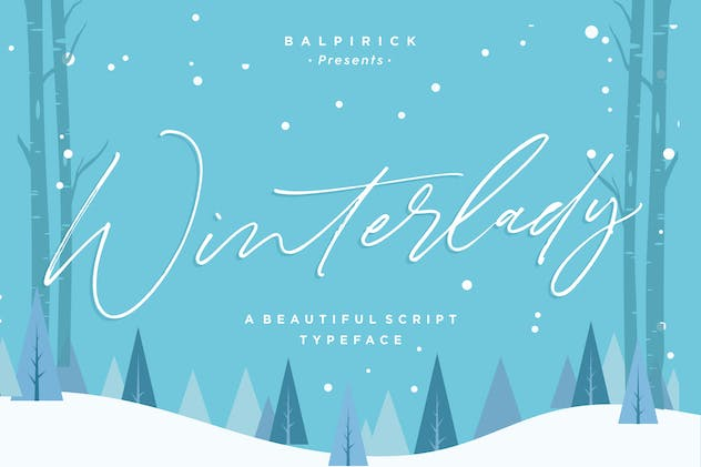 Winterlady YH - Luxury Script Font - product preview 6