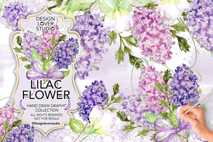 Cover Image For Watercolor LILAC design