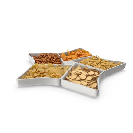 Star Compartment Bowl with Mixed Salty Snacks