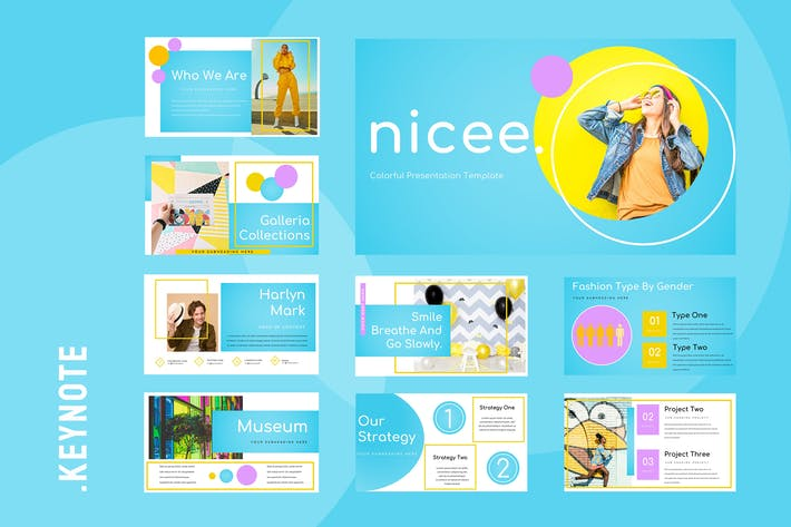 Thumbnail for Nicee - Colorful Keynote Presentation