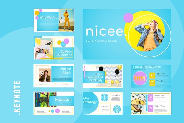 Nicee - Colorful Keynote Presentation