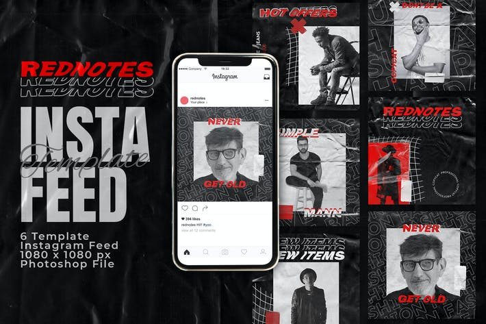 Thumbnail for Rednotes Instagram Feed Post Template