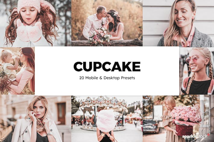 Thumbnail for 20 Cupcake Lightroom Presets & LUTs