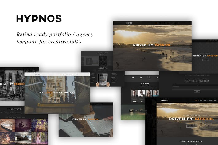 Thumbnail for Hypnos - Responsive Retina Ready HTML5 Template