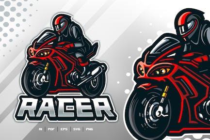 Racer Esport Mascot Logo