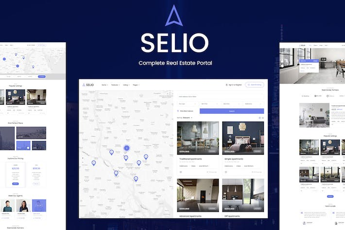 Thumbnail for Selio - Real Estate HTML Theme
