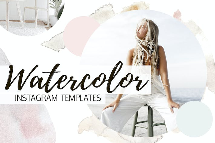 Thumbnail for Watercolor Instagram Templates
