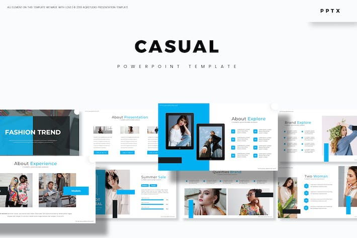 Cover Image For Casual - Powerpoint Template
