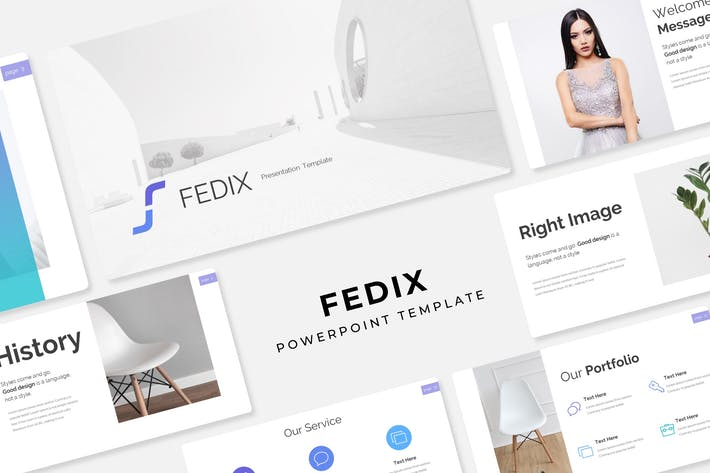 Cover Image For Fedix - Power Point Template