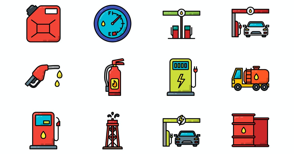 Download Gas Station Icon by vintagio