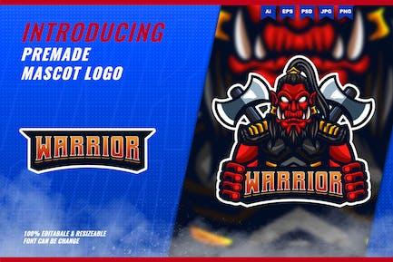 Orc Warrior - Mascot Esport Logo Template