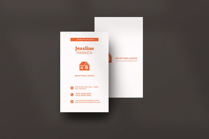 Thumbnail for Vertical Business Card Real Estate
