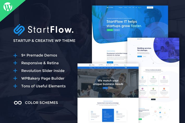 Thumbnail for Start Flow - Startup and Creative WordPress Theme
