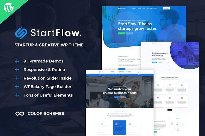 Thumbnail for StartFlow - Creative Multipurpose WordPress Theme