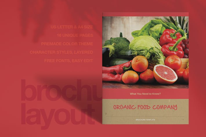 Thumbnail for Organic Food Brochure