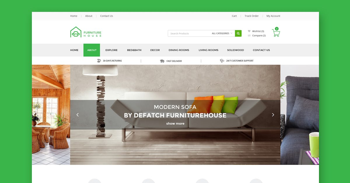 Download Furniture House - eCommerce Shop HTML Template by WPmines