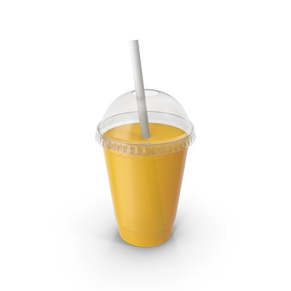 Пластиковая чашка сока