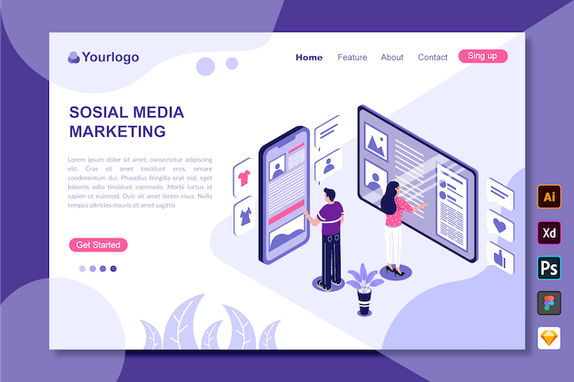 Social Media Marketing - Landing Page