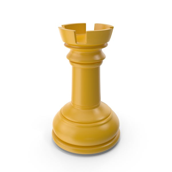 Chess Rook Yellow