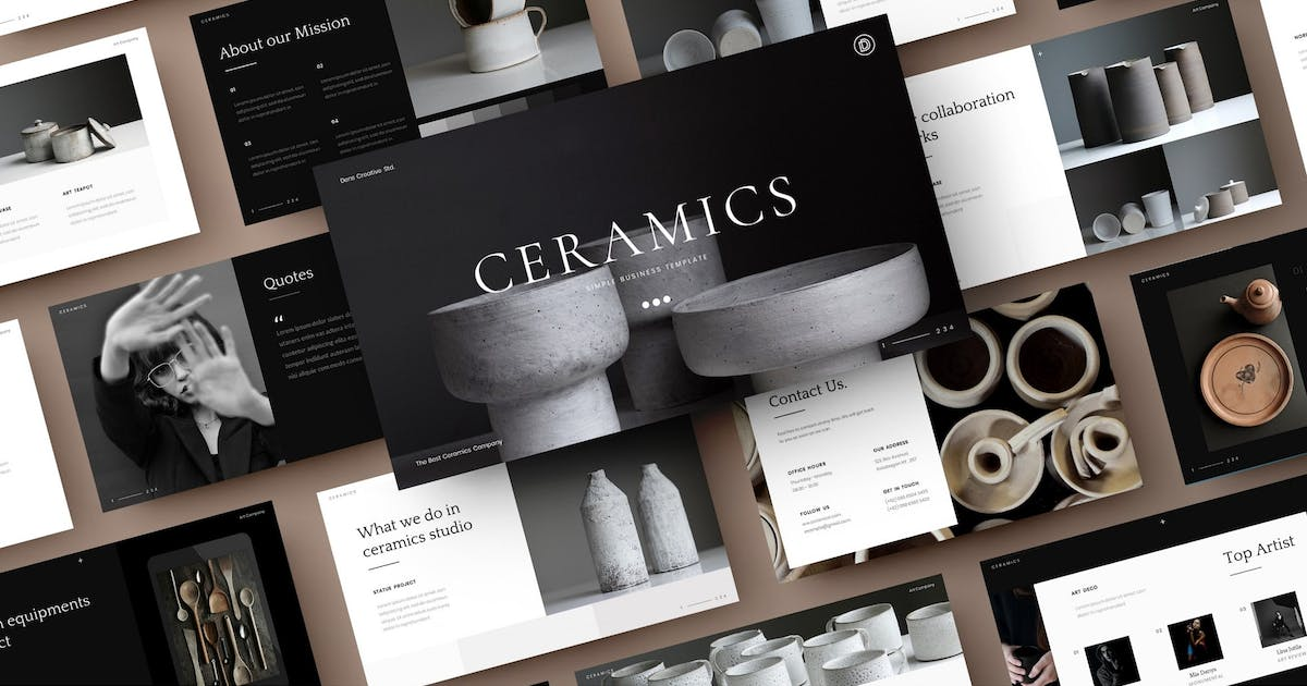 Download Ceramics – Simple Business PowerPoint Template by DensCreativeStudio