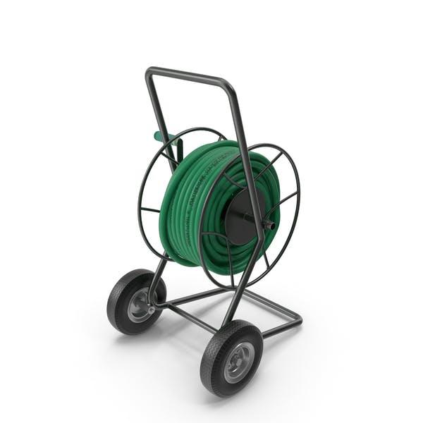 Carro de carrete de jardín con manguera