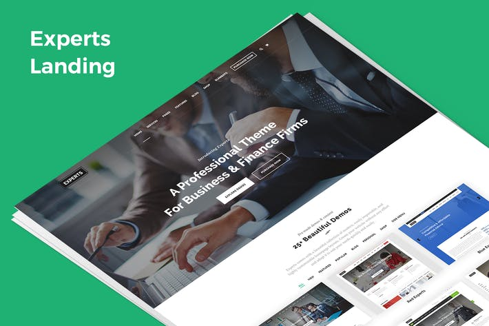 Thumbnail for Experts Demo Landing PSD Template