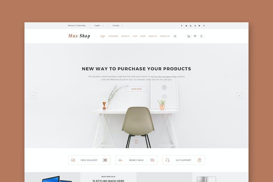 Max Shop - E-Commerce-HTML-Vorlage
