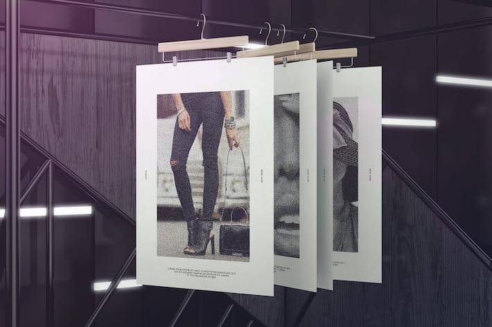 Cover Image For Exhibition Poster Framework Mockups
