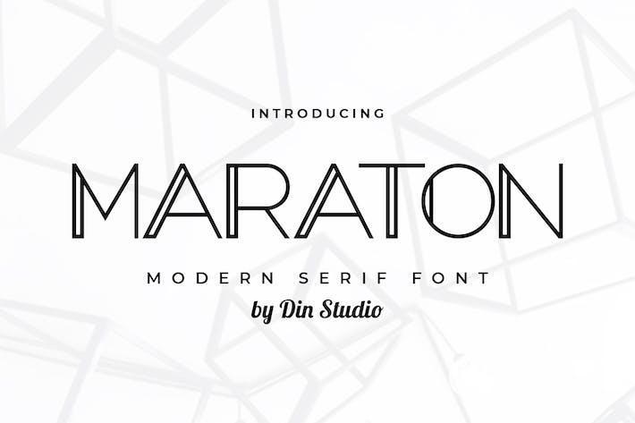 Thumbnail for Maraton-Modern Serif Font