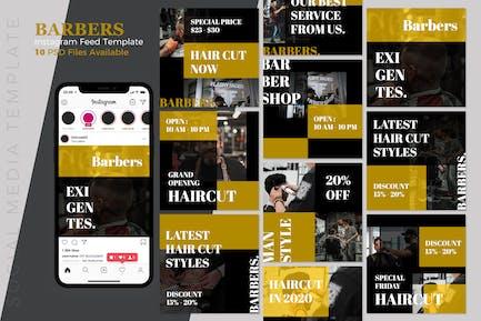 Barbers - barbershop Instagram Post