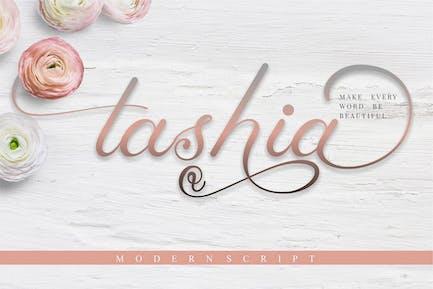 Tashia - Modern Calligraphy Script Font