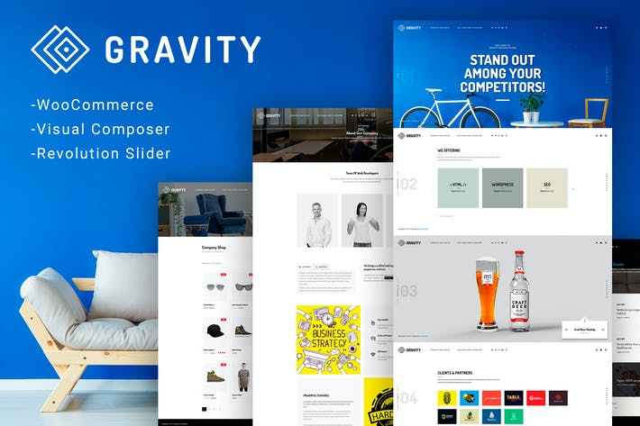 Thumbnail for Gravity - ECommerce, Agency & Presentation Theme