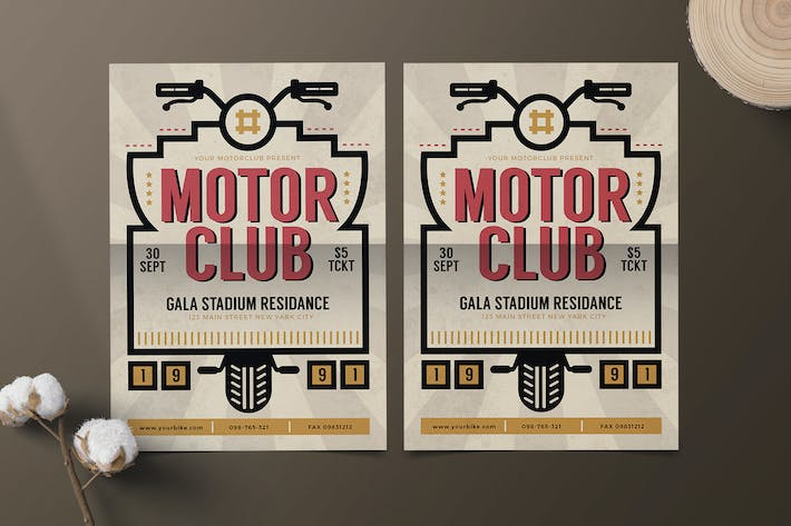 Cover Image For Motor Club Flyer