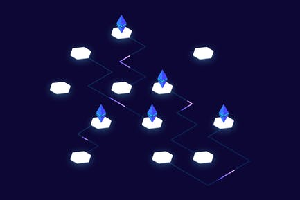 Blockchain Platform Isometric Illustration