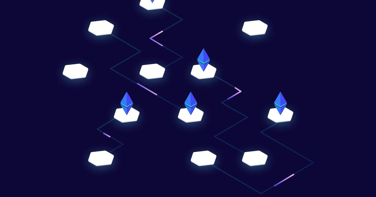 Download Blockchain Platform Isometric Illustration by angelbi88