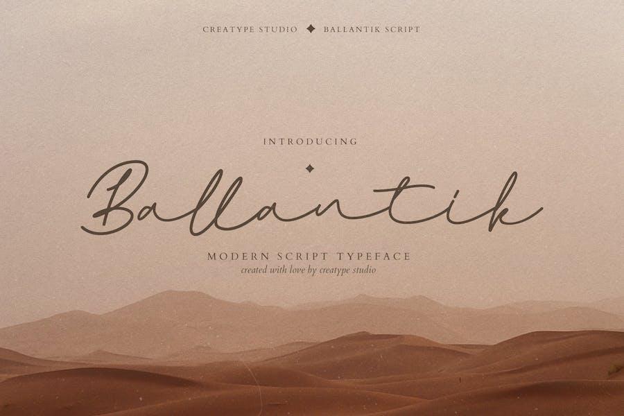 Escritura monolina moderna de Ballantik